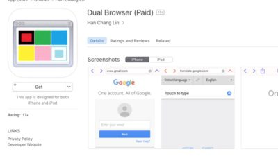 ios - dual browser