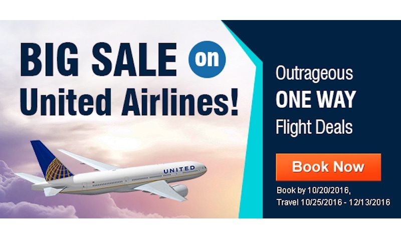 Flights DEAL United Airlines Sale On CheapOAir