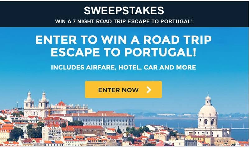 portugal escape sweepstakes at auto europe edealo. Black Bedroom Furniture Sets. Home Design Ideas