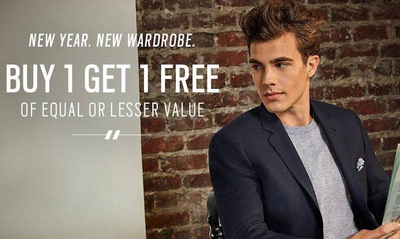 Buy 1 Get 1 Free Casual Wear at Men's Wearhouse.