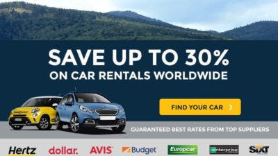 30% Off Car Rentals on Auto Europe