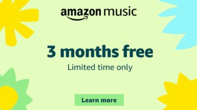 Limited time only: 3 months Amazon Music Unlimited for free