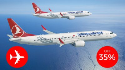 TURKISH AIRLINES 35 OFF