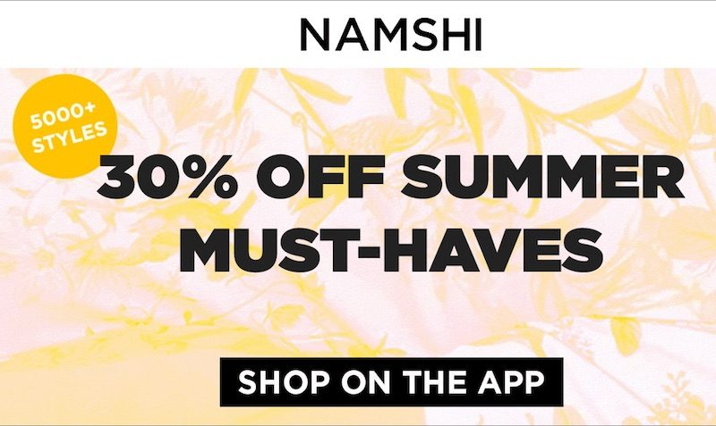 namshi sale summer