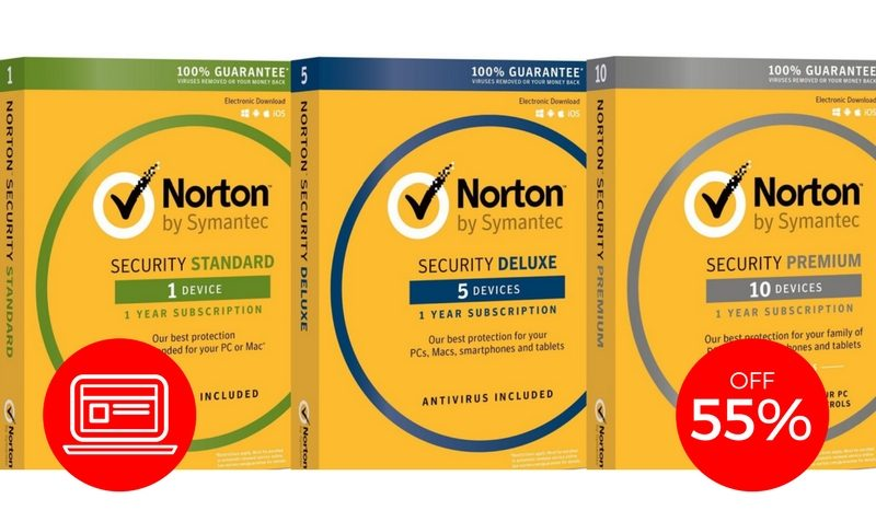 norton security 55 off