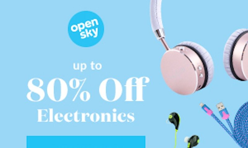 80% off All Electronics at OpenSky
