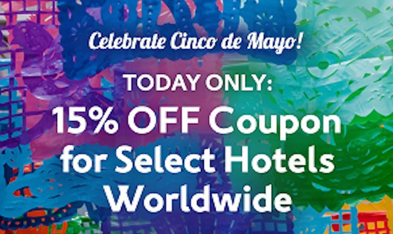 15% Off Coupon on Select Hotels Worldwide expedia