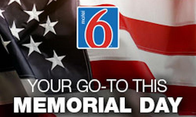 Motel 6 Memorial Day