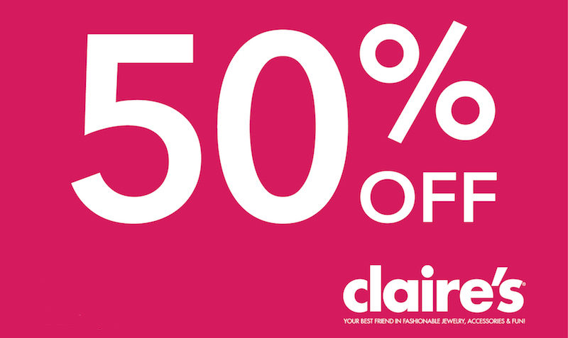 claire's 50% off