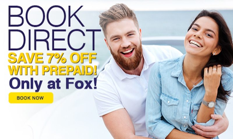fox rent a car 7% off coupon