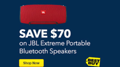 SAVE $70 ON JBL XTREME PORTABLE BLUETOOTH SPEAKERS