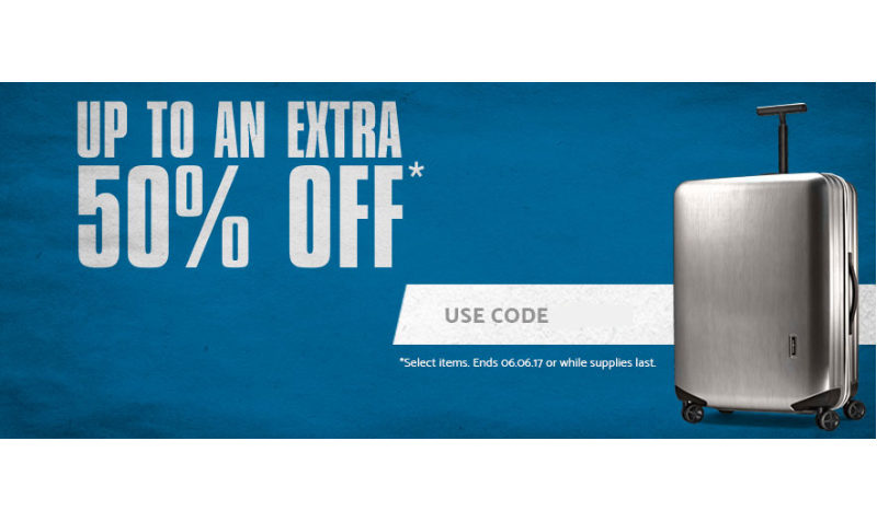 samsonite extra 50% off