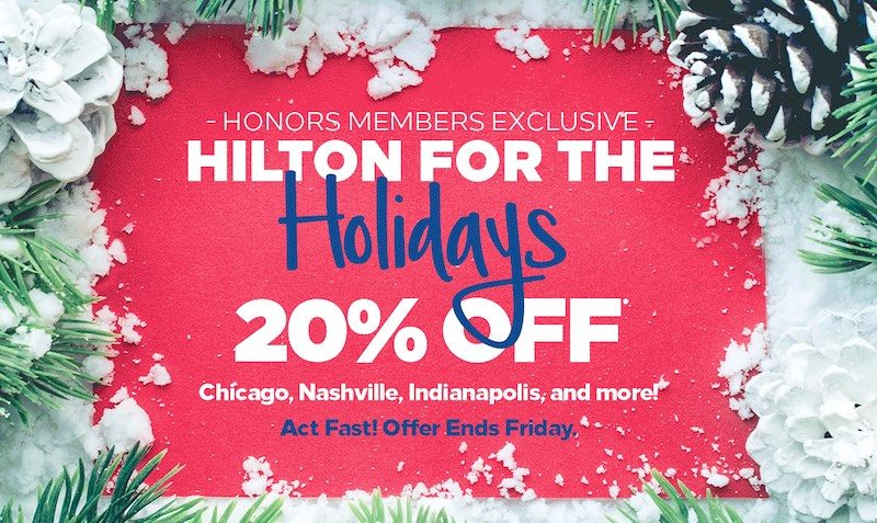 20% Off at Hilton Hotels in USA