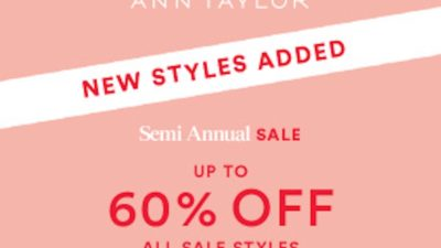 ann taylor semi annual sale