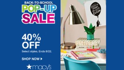 Back to School Pop Up Sale
