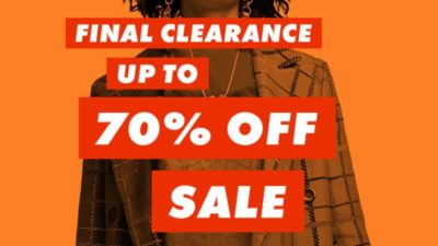 Final clearance – up to 70% off