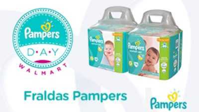pampers day walmart brazil