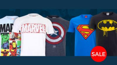 marvel clothing dc comics sale