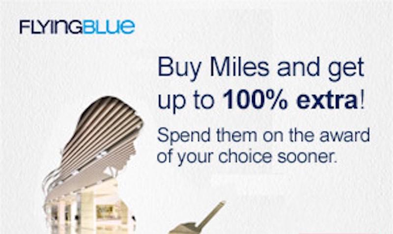 Bonus Flying Blue Miles at Points.com
