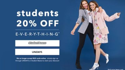20% OFF SALE for Students at Miss Selfridge