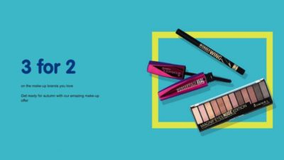 3 for 2 boots makeup