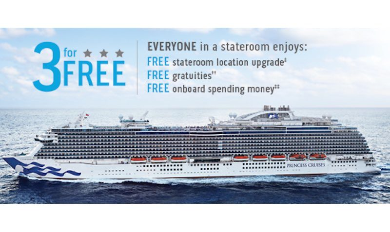 3 for free sale princess cruises