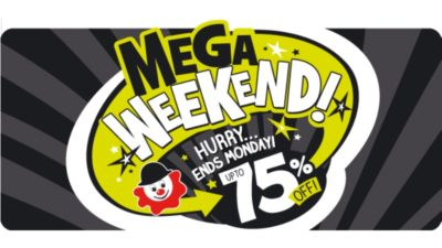 75% Off Mega Weekend SALE at The Entertainer Toy Shop