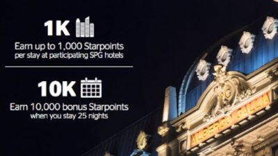 Upto 10,000 BONUS Points at Starwood Hotels and Resorts