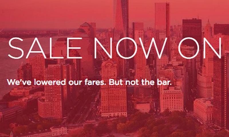 virgin atlantic sale