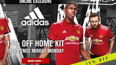 15% Off SALE on Home Kit at Manchester United Direct
