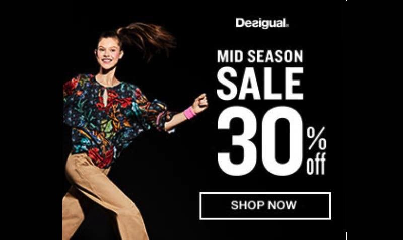 30% Off Mid Season SALE at Desigual
