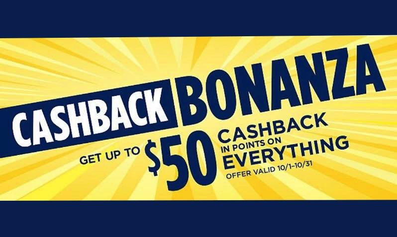 $50 Off Cashback Bonanza at SEARS
