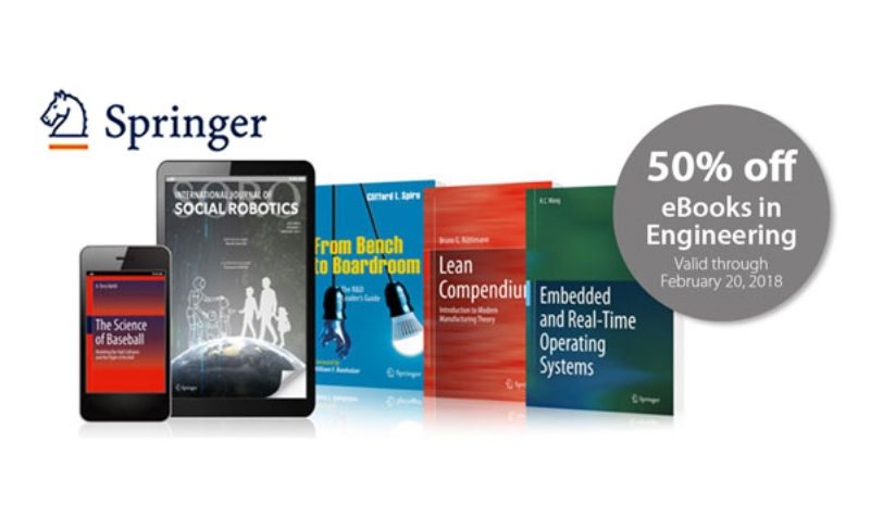 Get 50% off all eBooks and journal subscriptions in Engineering