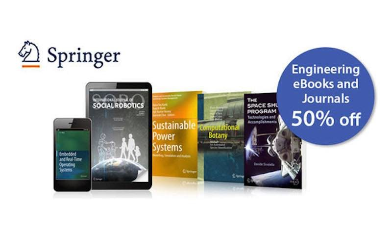 50% Off SALE on Engineering eBooks and Journals at Springer International