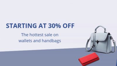 30% Off SALE on Wallets and Handbags at AliExpress