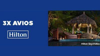 Triple Avios on British Airways with Hilton Hotels