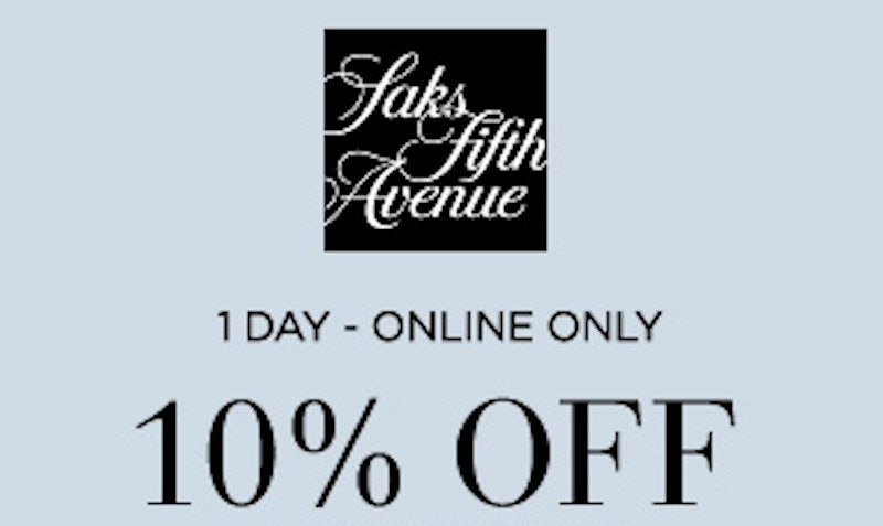 Check out our 13 Saks Fifth Avenue coupons including 1 coupon code, and 12 sales. Most popular now: Free Express Shipping on orders of $ or more to ALL COUNTRIES. Latest offer: 10% Off your 1st order When You Sign up for Saks Fifth Avenue emails.