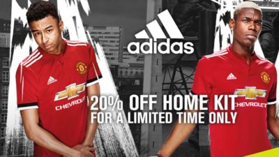 20% Off SALE on Home Kit at Manchester United Direct