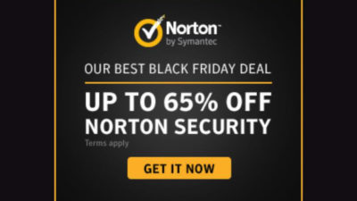 65% Off Black Friday SALE on Norton Security Products