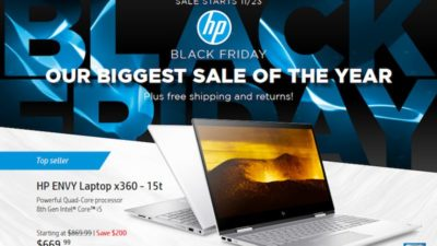 Black Friday & Cyber Monday Ad Scan at HP Store