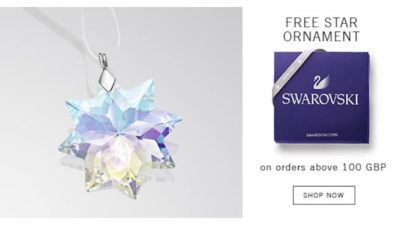 FREE Swarovski Star Ornament with Purchases at Swarovski