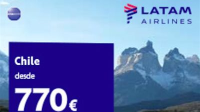 SALE on Flights on LATAM Airlines from Spain to Chile