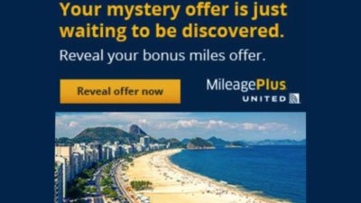 Mystery Bonus! Buy United MileagePlus points and get up to 100% bonus.
