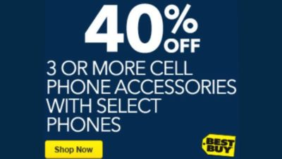40% Off on Cell Phone Accessories at BestBuy