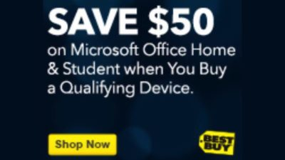 Save $50 on Microsoft Office Home & Student with Purchase of a Qualifying Device