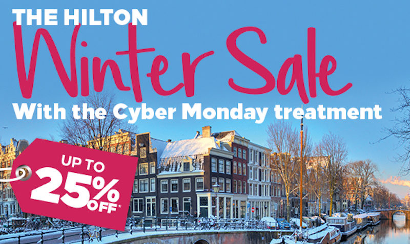 25% Off Cyber Monday SALE at Hilton Hotels