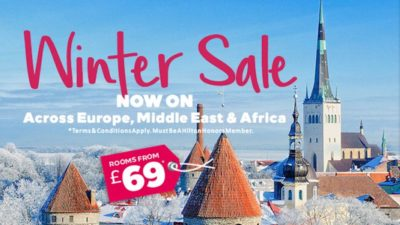 25% Off Winter SALE at Hilton Hotels Europe, Middle East and Africa
