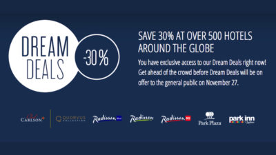 30% Off SALE at Club Carlson Hotels