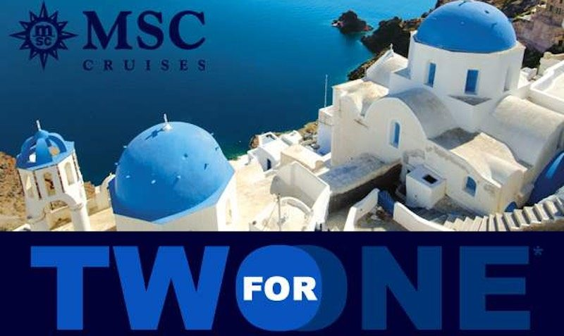 2 for 1 for Mediterranean Cruises