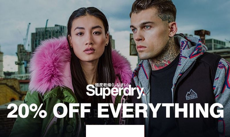 20% Off Discount Coupon at Superdry